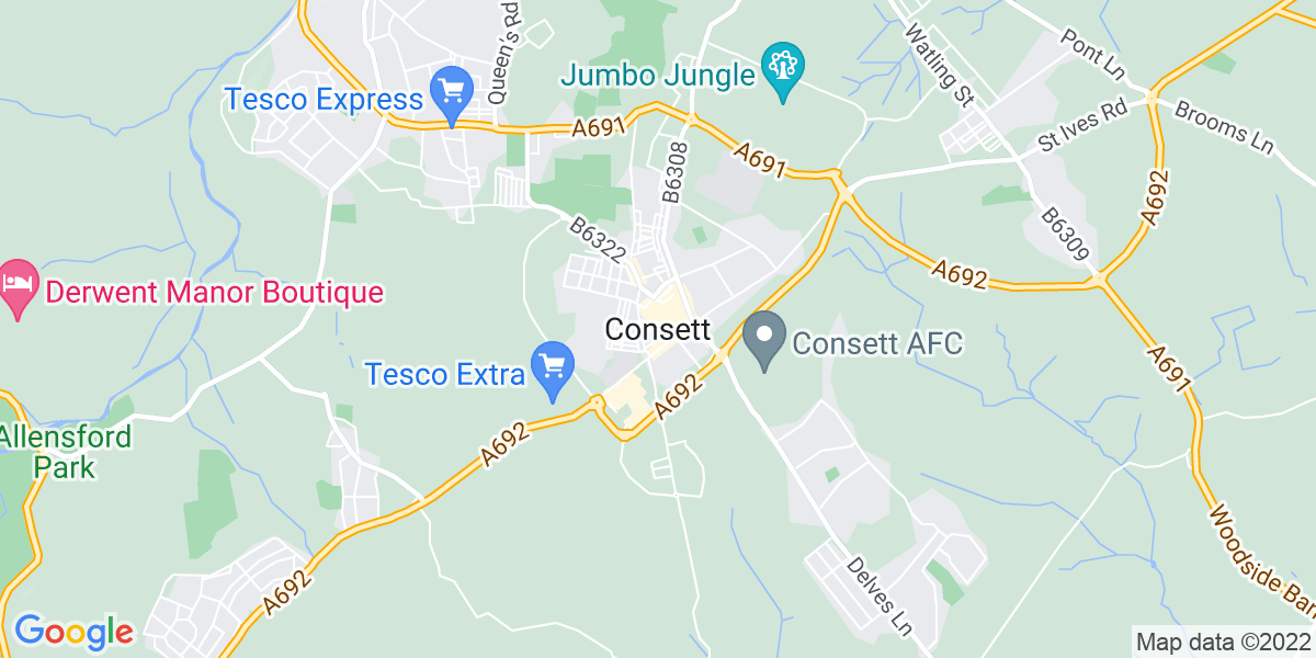 Map: Technical Services Manager role in Consett