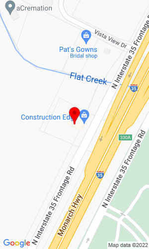 Google Map of Construction Edge 707 S Robinson Drive, Robinson, TX, 76706
