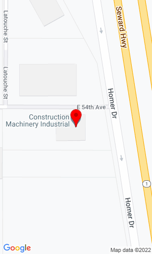 Google Map of Construction Machinery Industrial 5400 Homer Drive, Anchorage, AK, 99518