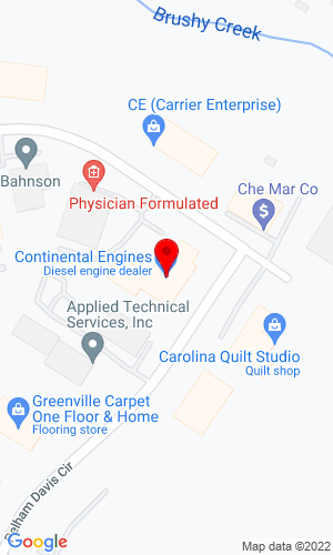 Google Map of Continental Engines 60 Pelham Davis Circle, Greenville, SC, 29615
