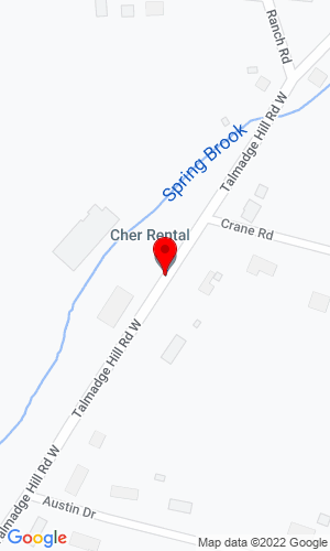 Google Map of Contractors Heavy Equipment Rental (Cher Rental) 121 Talmadge Hill West Rd., Waverly, NY, 14892