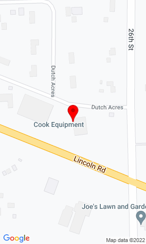 Google Map of Cook's Heavy Equipment & Repair 498 Cook Rd, Hogansburg, NY, 13655,