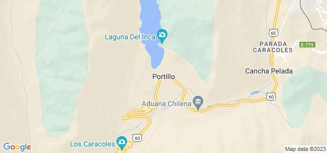 Cordilheira dos Andes na área de Portillo, localizada na província de Los Andes, região de Valparaíso, no Chile