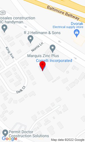 Google Map of Correlli Incorporated 8031 Norris Lane, Dundalk, MD, 21222