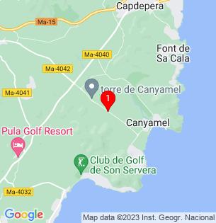 Google Map of Costa de Canyamel, Baleares, Spain