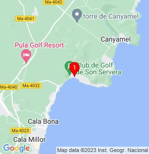Google Map of Costa de los Pinos, Baleares, Spain