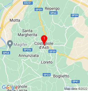 Google Map of Costigliole, Piedmont, Italy