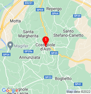 Google Map of Costigliole d´Asti, Piedmont, Italy