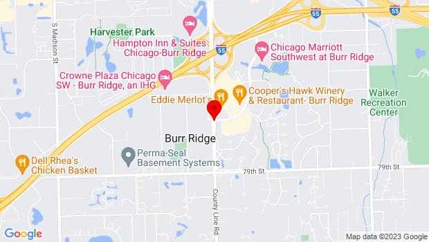 Google Map of County Line Road & Burr Ridge Parkway, Burr Ridge, IL 60527