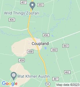 Coupland TX Map