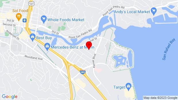 Google Map of Court Street Plaza, 1000 Fourth St, San Rafael, CA 94901