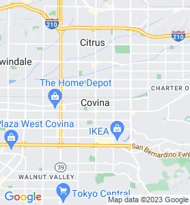 Covina CA Map