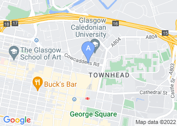 Map for Glasgow Caledonian University
