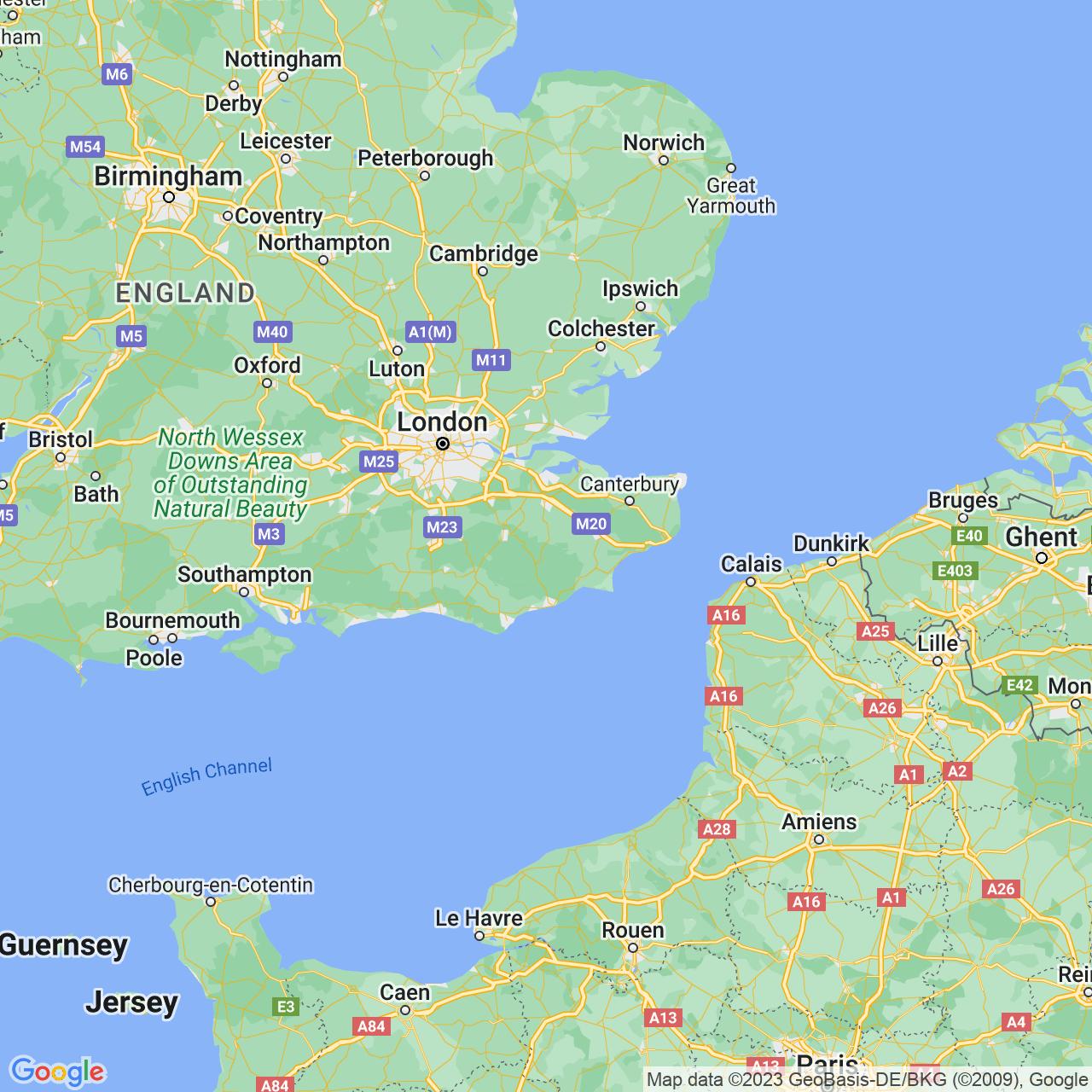 Cranbrook, England Map