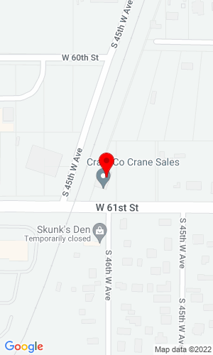 Google Map of Crane Sales & Service Co. 5910 S 27th Street, Omaha, NE, 68107