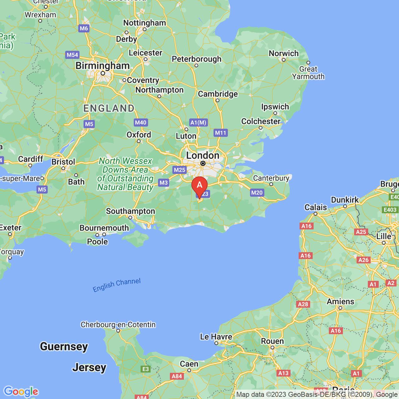 Crawley, England Map
