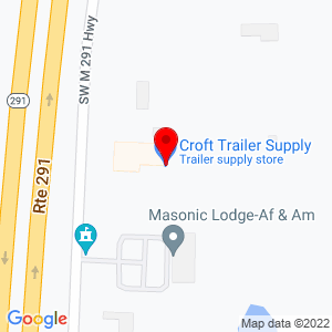 Google Map of Croft Trailer Supply, Inc.+2401+S+State+Route+291+Lee%27s+Summit+MO+64081
