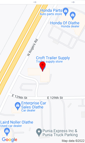 Google Map of Croft Trailer Supply, Inc. 970 N Rogers Road, Olathe, KS, 66062