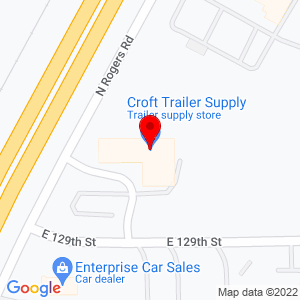 Google Map of Croft Trailer Supply, Inc.+970+N+Rogers+Road+Olathe+KS+66062