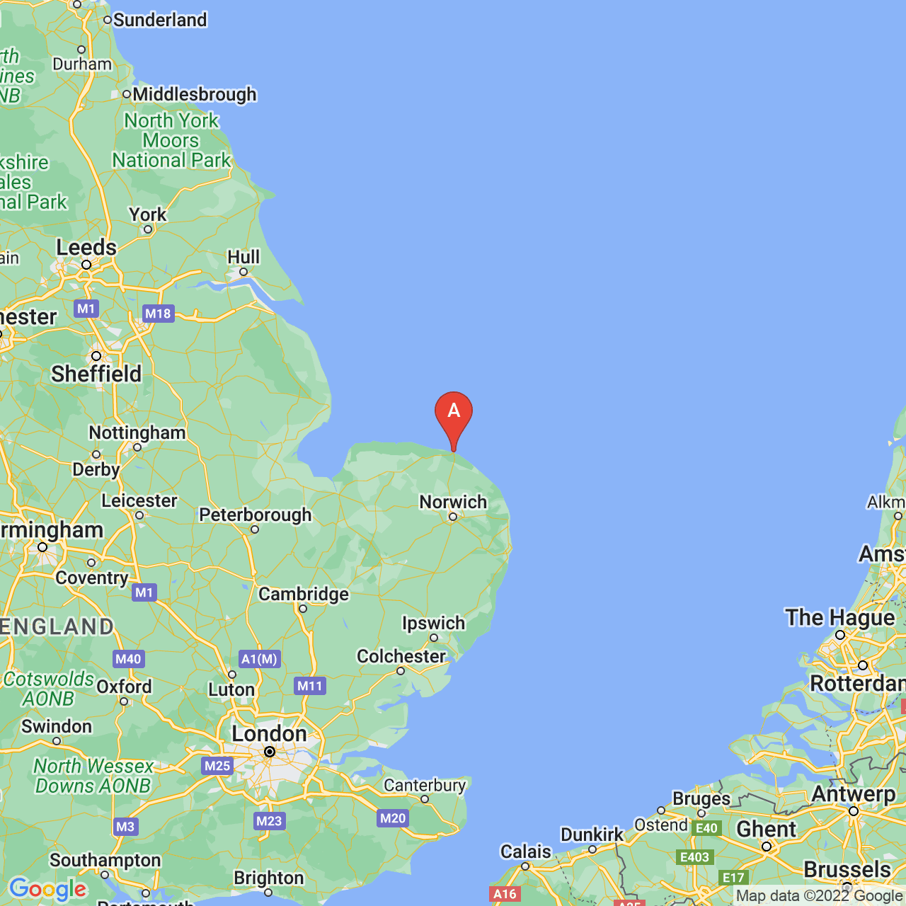 Cromer, England Map