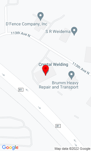 Google Map of Crystal Welding 17601 113th Avenue, Maple Grove, MN, 55369