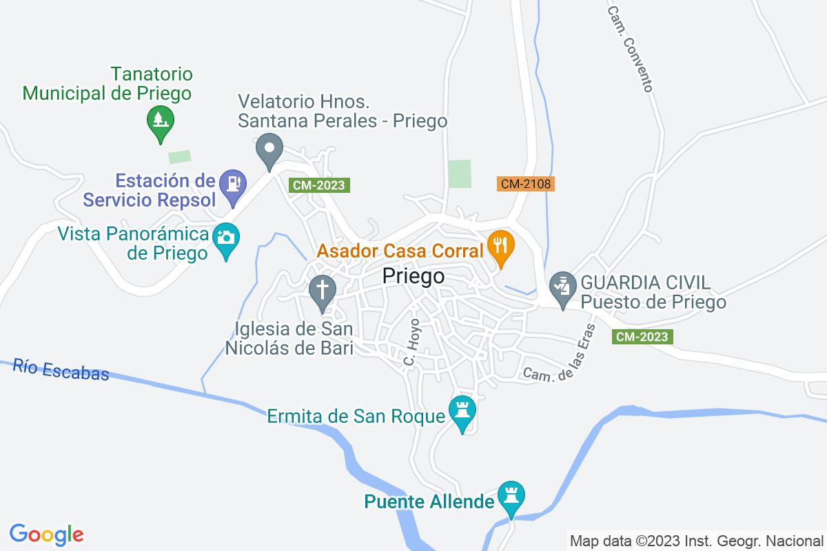 Mapa Cuenca PRIEGO