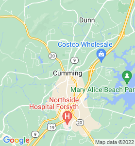 Cumming GA Map