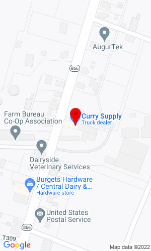 Google Map of Curry Supply Co. 1624 Curryville Road, Martinsville, PA, 16631     ,