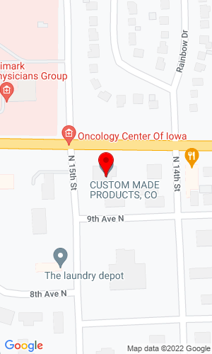 Google Map of Custom Made Products Co 1410 North 10th Avenue, Humboldt, IA, 50548