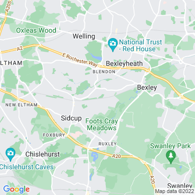 Sidcup Cemetery Location