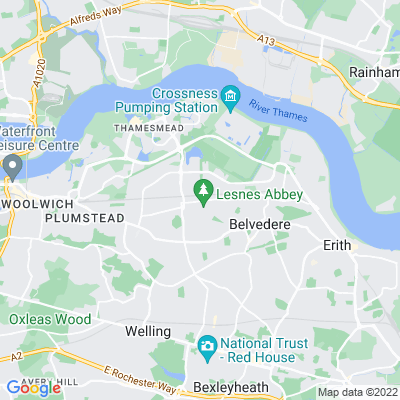 Lesnes Abbey Location