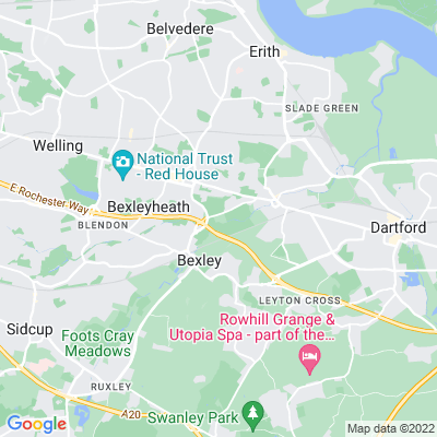 Hall Place, Bexley Location