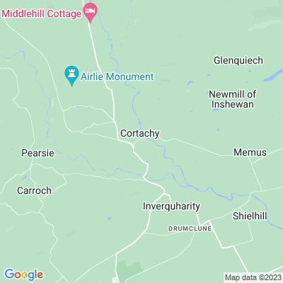 Cortachy Castle Location