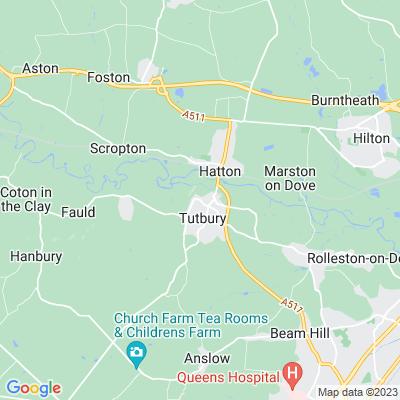 Tutbury  Castle Location