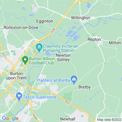 Newton Park, Newton Solney Location