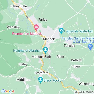 High Tor, Matlock Location