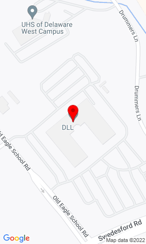 Google Map of DLL Financial 1111 Old Eagle School Road, Wayne, PA, 19087
