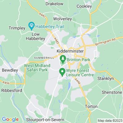 Brinton Park, Kidderminster Location