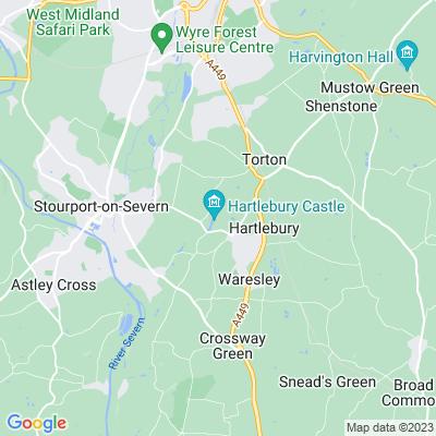 Hartlebury Castle Location