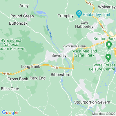 Tickenhill Palace, Bewdley Location