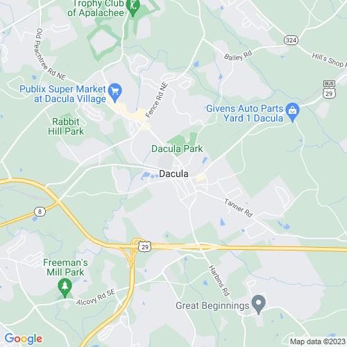 Map of Dacula, GA