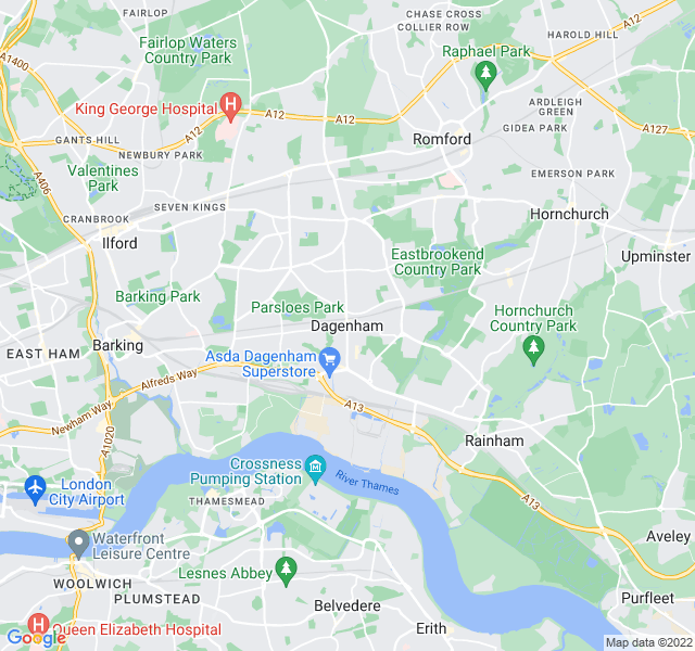 Website Designer Dagenham Google map of location