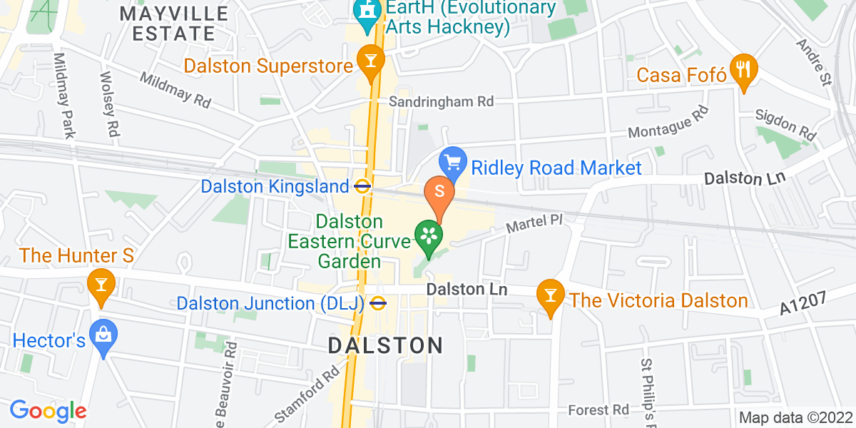 Google Map of Dalston Cross Shopping Centre London E8 2LX