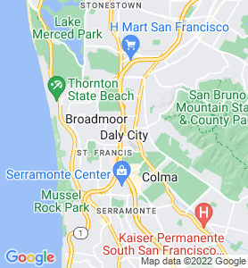 Daly City CA Map