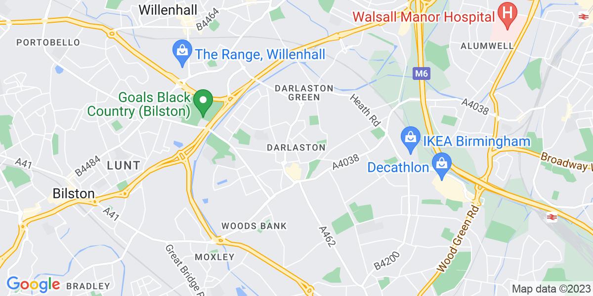 Map: BBO Partnerships Coordinator job role in Darlaston