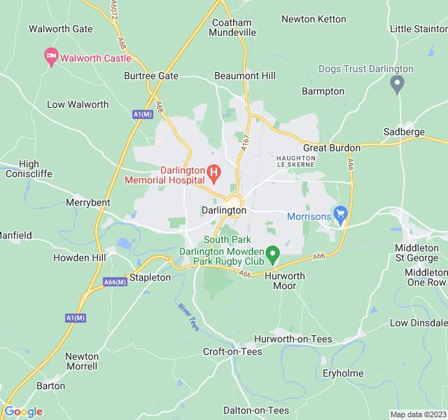 Website Designer Darlington Google map of location