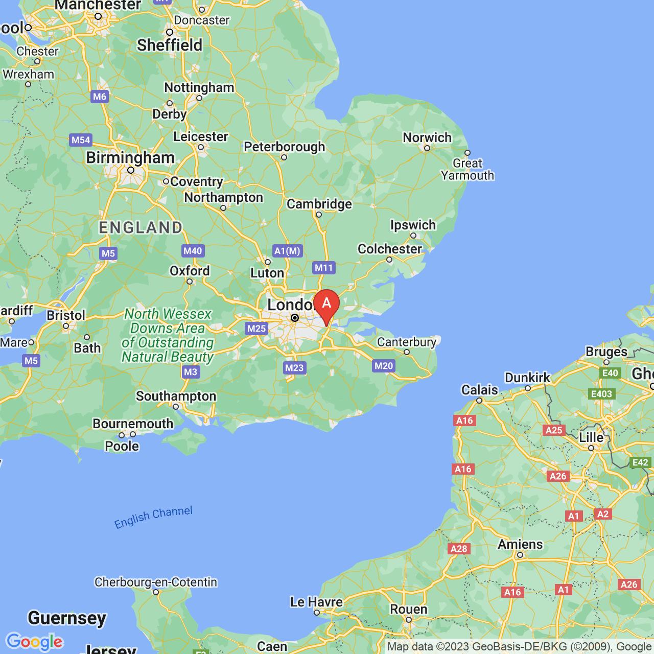 Dartford, England Map