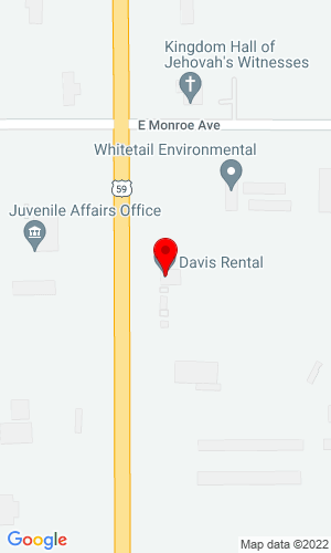Google Map of Davis Rental & Supply Inc 1700 SE Main St., Roswell, NM, 88203