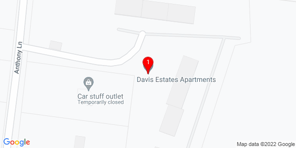 Google Map of Davis Estates Apartments