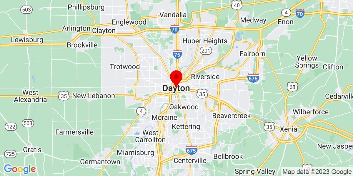 Google Map of Dayton, OH